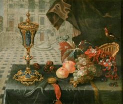 Still Life with King John Cup   Pieter Gerritz. van Roestraten   Oil Painting