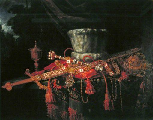 The Insignia of the City of London   Pieter Gerritz. van Roestraten   Oil Painting