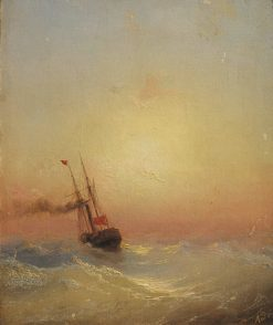 The Gunboat | Ivan Constantinovich Aivazovsky | Oil Painting