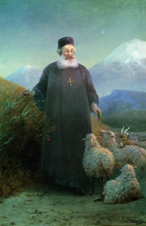 Catholicos Hrimyan Airik in the Outskirts of Holy Etchmiadzin   Ivan Constantinovich Aivazovsky   Oil Painting