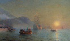 Columbus Sailing by Cape Palos | Ivan Constantinovich Aivazovsky | Oil Painting