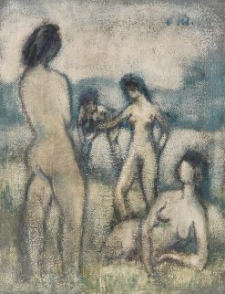 Four Bathers | Otto Mueller | Oil Painting