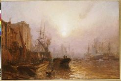 The Pool of London | Claude T. Stanfield Moore | Oil Painting