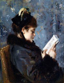 Portrait of Madame Brizat | Alfred Emile Leopold Stevens | Oil Painting