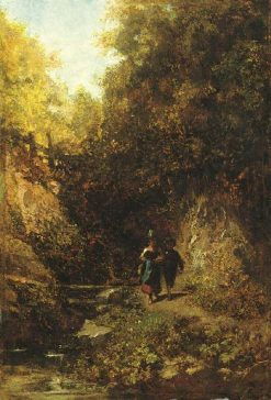 Two Children in the Forest | Carl Spitzweg | Oil Painting
