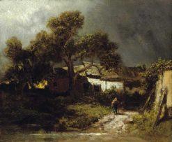 Old Farmhouses | Carl Spitzweg | Oil Painting