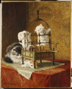 Playing Kittens   Henriette Ronner-Knip   Oil Painting