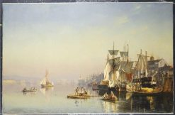 Boats on the River Thames at Greenwich | Carl Neuman | Oil Painting