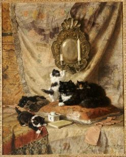 Playing Kittens | Henriette Ronner-Knip | Oil Painting