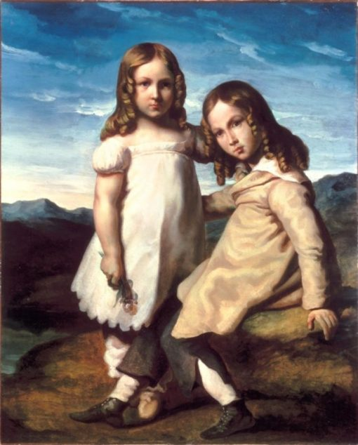 Portrait of Alfred and Elisabeth Dedreux | Theodore Gericault | Oil Painting