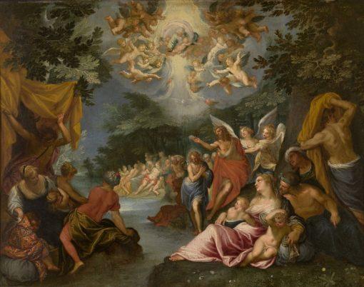 Baptism of Christ | Hans Rottenhammer | Oil Painting