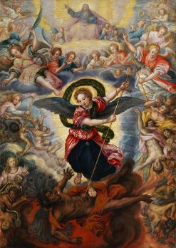 The Last Judgement with St. Michael Fighting with Satan | Hans Rottenhammer | Oil Painting