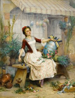 The Easter Eggs | Pierre Outin | Oil Painting