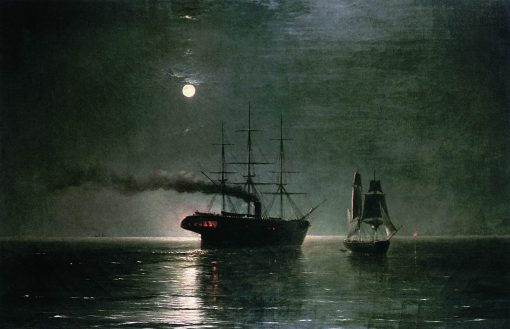 Ships at Night | Ivan Constantinovich Aivazovsky | Oil Painting