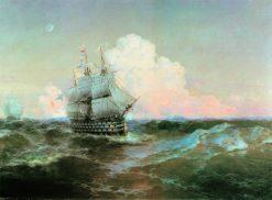 "The Ship ""Twelve Apostles"" | Ivan Constantinovich Aivazovsky | Oil Painting"