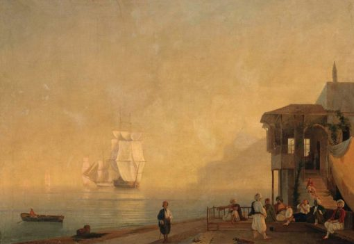 A Coffee House in Crimea | Ivan Constantinovich Aivazovsky | Oil Painting