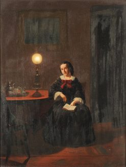 Young Lady Seated beside a Table | Johannes Rosierse | Oil Painting