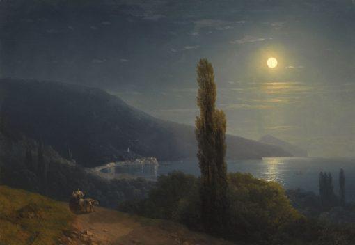 Crimean Coast in the Moonlight | Ivan Constantinovich Aivazovsky | Oil Painting