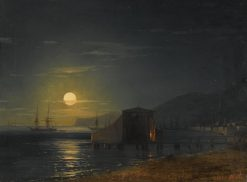 Bathing Cabin in Feodosia | Ivan Constantinovich Aivazovsky | Oil Painting