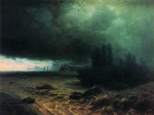 Shower in Sudak | Ivan Constantinovich Aivazovsky | Oil Painting