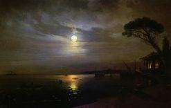 A Moonlit Night | Ivan Constantinovich Aivazovsky | Oil Painting