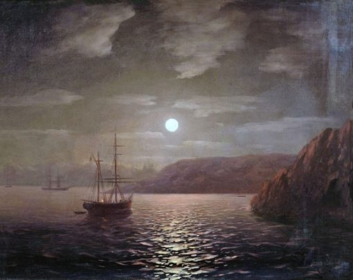 A Moonlit Night on the Black Sea | Ivan Constantinovich Aivazovsky | Oil Painting