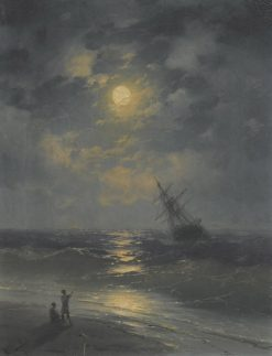 A Moonlit Night on the Sea | Ivan Constantinovich Aivazovsky | Oil Painting