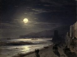 A Moonlit Night on the Seashore | Ivan Constantinovich Aivazovsky | Oil Painting
