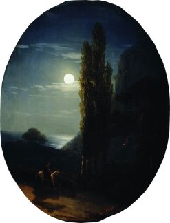 A Moonlit Night | Ivan Constantinovich Aivazovsky | Oil Painting