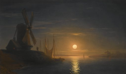 A Moonlit Night on the Dnieper | Ivan Constantinovich Aivazovsky | Oil Painting
