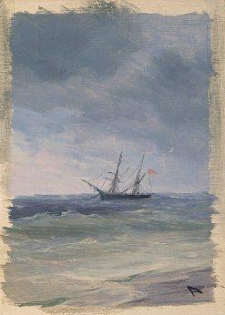Sea (study) | Ivan Constantinovich Aivazovsky | Oil Painting