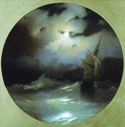 Sea on a Moonlit Night | Ivan Constantinovich Aivazovsky | Oil Painting