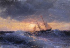 Sunset at Sea | Ivan Constantinovich Aivazovsky | Oil Painting