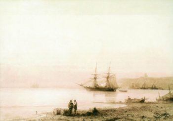 Seashore   Ivan Constantinovich Aivazovsky   Oil Painting