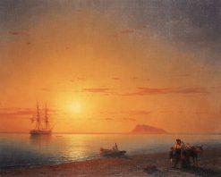 Farewell on the Seashore   Ivan Constantinovich Aivazovsky   Oil Painting