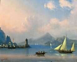 The Strait with a Lighthouse | Ivan Constantinovich Aivazovsky | Oil Painting