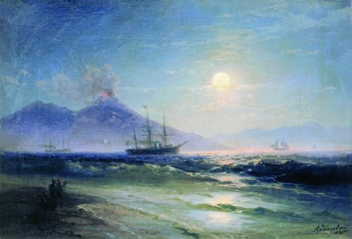 The Bay of Naples at Night | Ivan Constantinovich Aivazovsky | Oil Painting