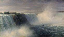 Niagara Falls   Ivan Constantinovich Aivazovsky   Oil Painting