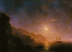 Night in Amalfi | Ivan Constantinovich Aivazovsky | Oil Painting