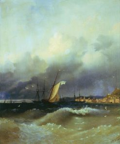 Night on the Black Sea | Ivan Constantinovich Aivazovsky | Oil Painting