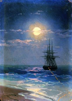 Seascape at Night | Ivan Constantinovich Aivazovsky | Oil Painting
