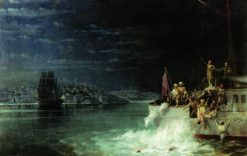 Tragedy in the Marmara Sea | Ivan Constantinovich Aivazovsky | Oil Painting