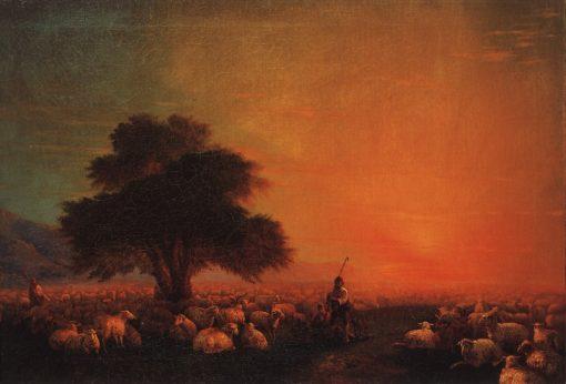 Sheep   Ivan Constantinovich Aivazovsky   Oil Painting