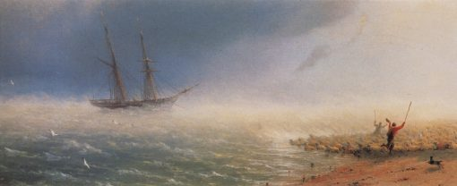 Sheep Frightened by the Storm | Ivan Constantinovich Aivazovsky | Oil Painting