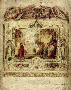Entwurf zu einem Theatervorhang   Gustav Klimt   Oil Painting