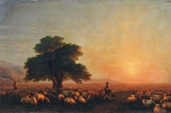 A Flock of Sheep | Ivan Constantinovich Aivazovsky | Oil Painting