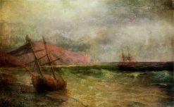 Sailing Ship   Ivan Constantinovich Aivazovsky   Oil Painting