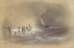 Sailing Ship in a Storm | Ivan Constantinovich Aivazovsky | Oil Painting