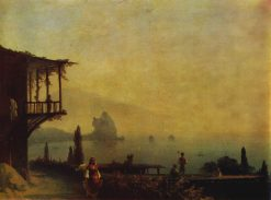 The Outskirts of Gurzuf | Ivan Constantinovich Aivazovsky | Oil Painting