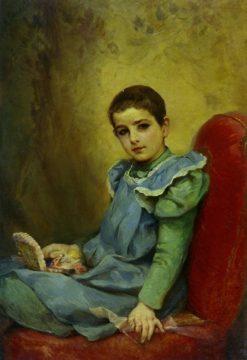Portrait of a Girl | Nikolai Koshelev | Oil Painting